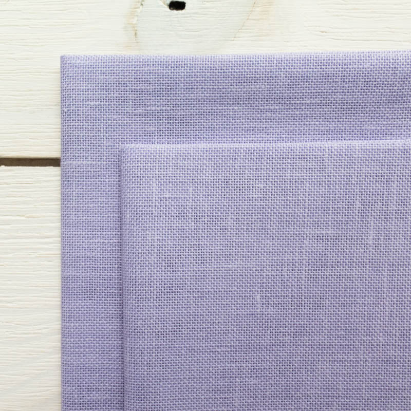 28 ct Cashel Linen - Peaceful Purple Fabric - Snuggly Monkey