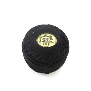 Black Finca Perle Cotton Thread (0007) Perle Cotton - Snuggly Monkey