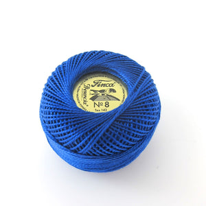 Royal Blue Finca Perle Cotton Thread (3405) Perle Cotton - Snuggly Monkey