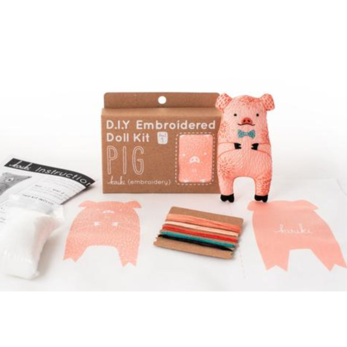 Pig Plushie Embroidery Kit by Kiriki Press Embroidery Kit - Snuggly Monkey