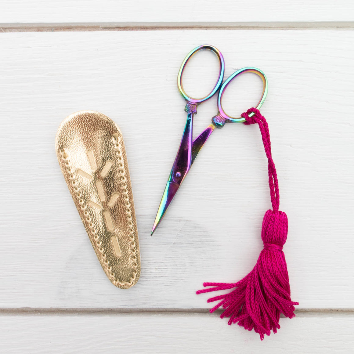 Prismatic Rainbow Embroidery Scissors