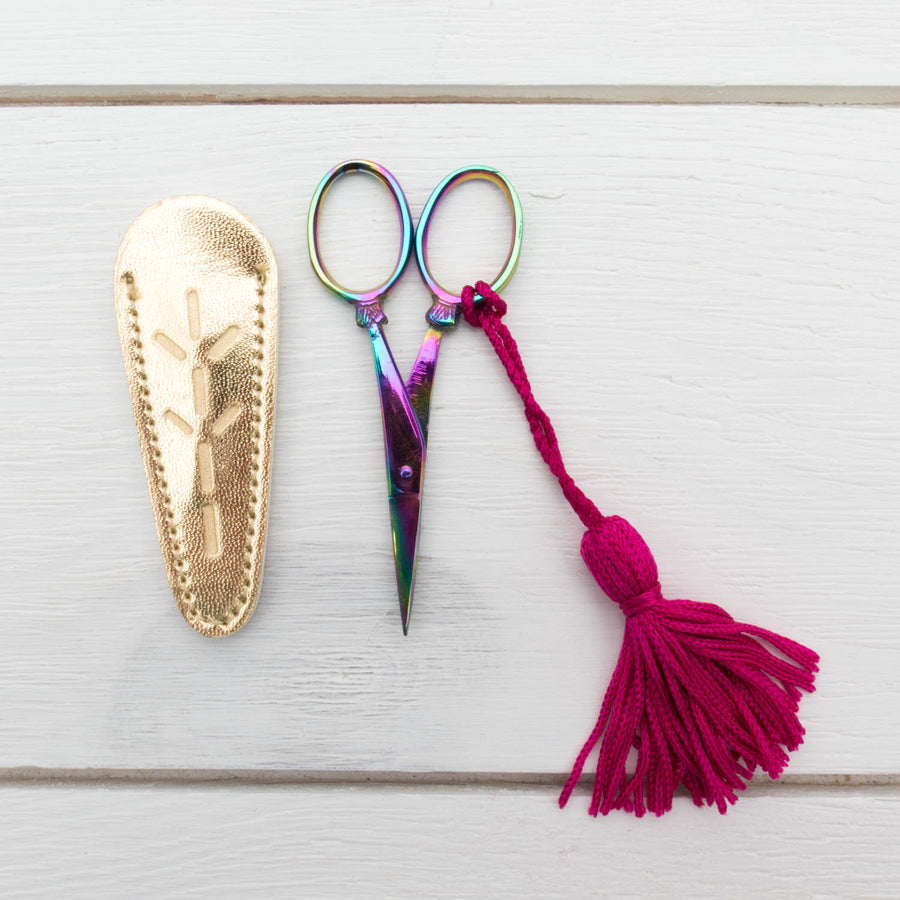 Prismatic Rainbow Embroidery Scissors Scissors - Snuggly Monkey