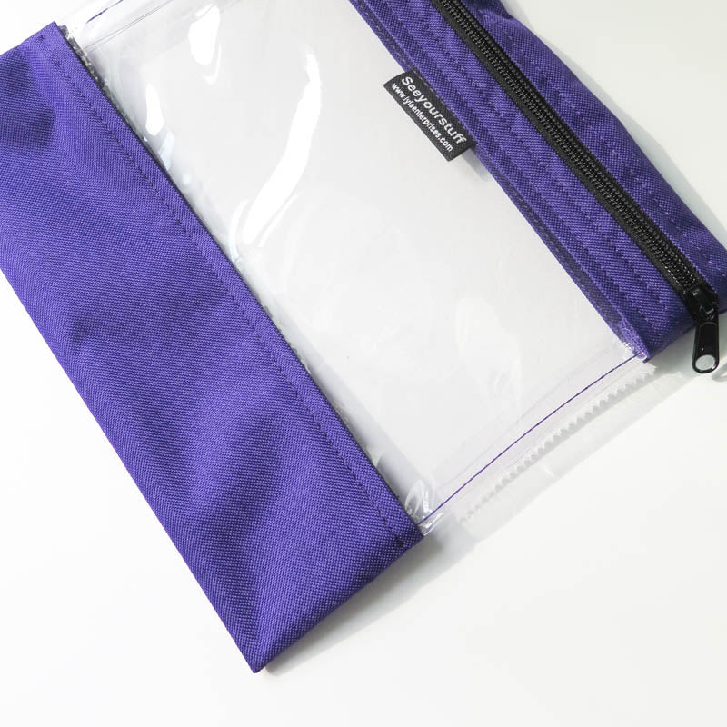 "10"" x 11"" Purple Vinyl Project Bag Bags - Snuggly Monkey"