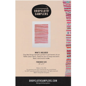 Dropcloth Embroidery Samplers :: Red Stripe Sampler Patterns - Snuggly Monkey