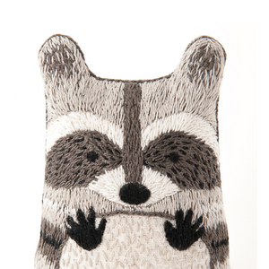 Raccoon Embroidery Kit by Kiriki Press Embroidery Kit - Snuggly Monkey