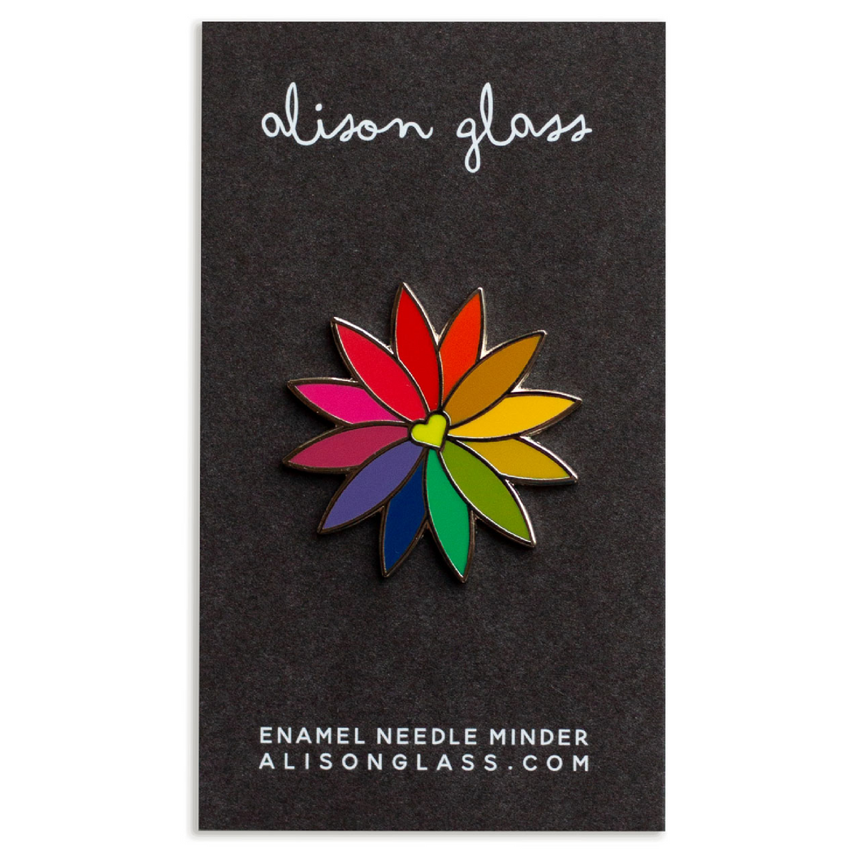 Alison Glass Rainbow Flower Enamel Needleminder