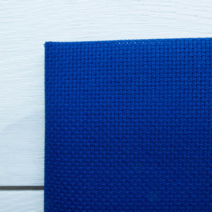 Aida Cross Stitch Fabric - Royal Blue (14 ct) Fabric - Snuggly Monkey