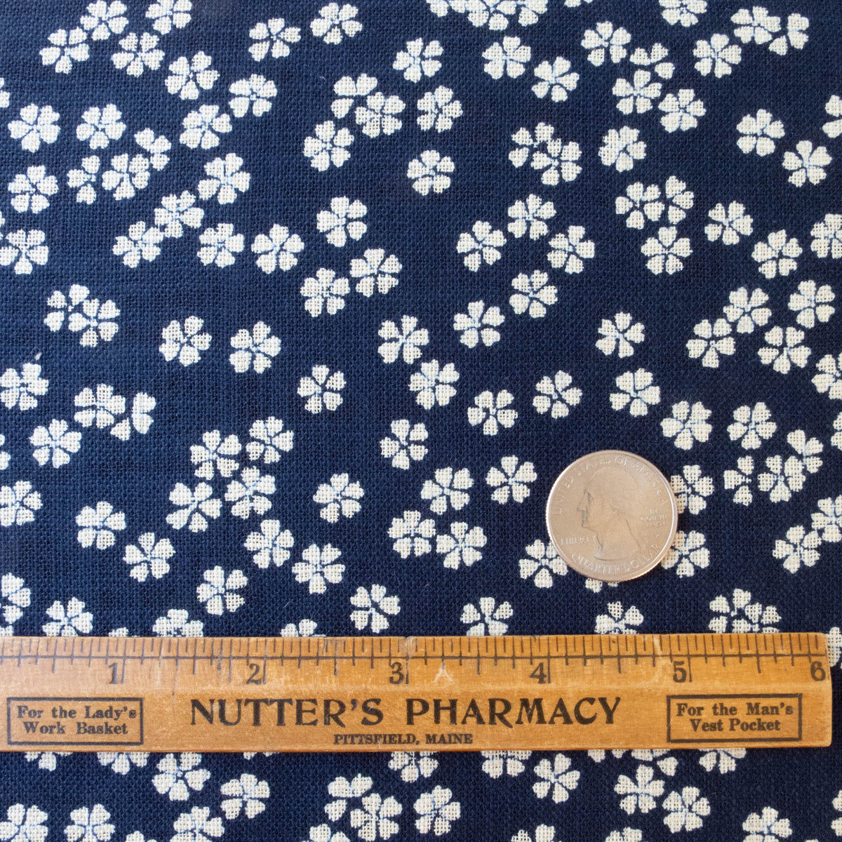 Sevenberry Nara Homespun :: Sakura Blossoms on Indigo Fabric - Snuggly Monkey