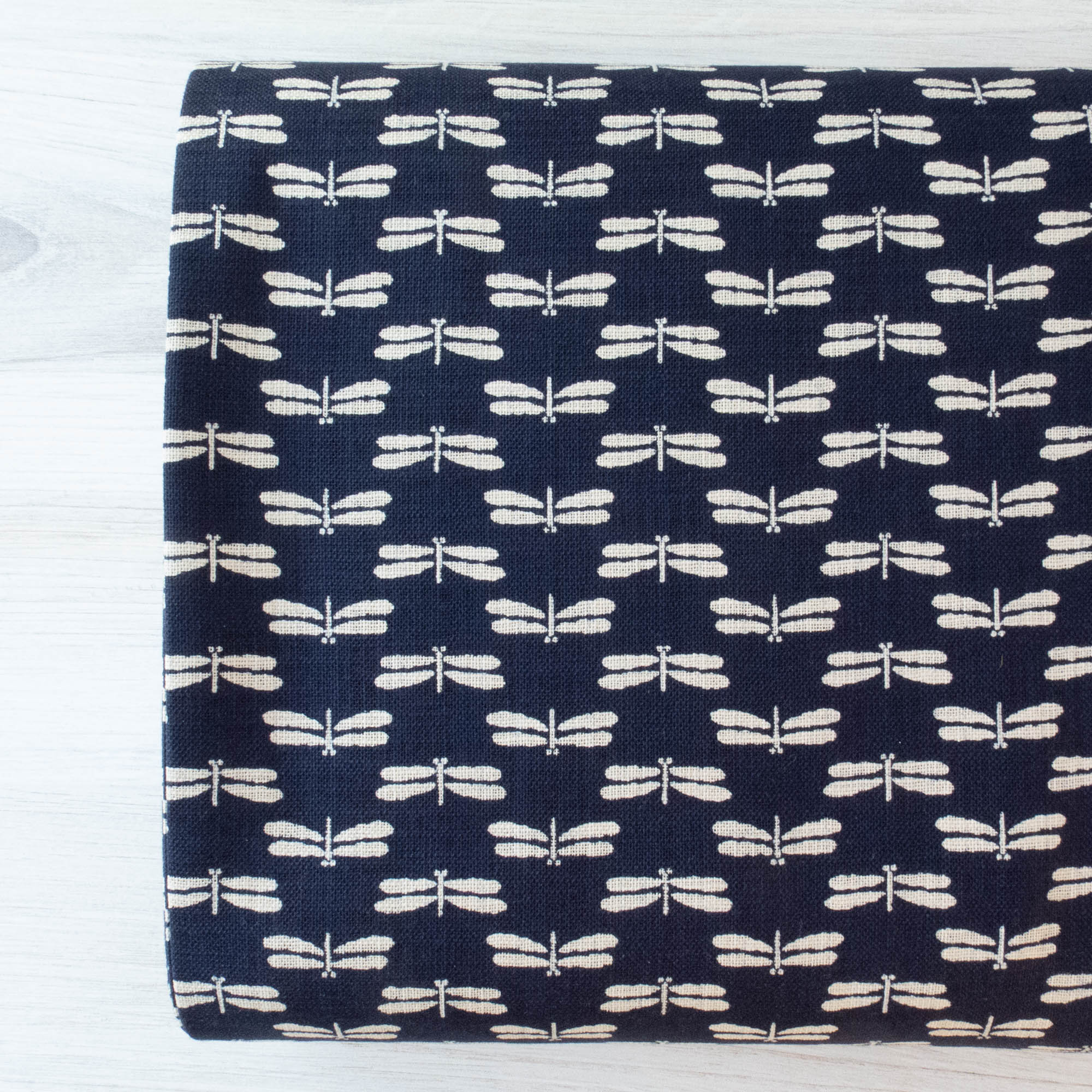 Sevenberry Nara Homespun :: Dragonfly on Indigo Fabric - Snuggly Monkey