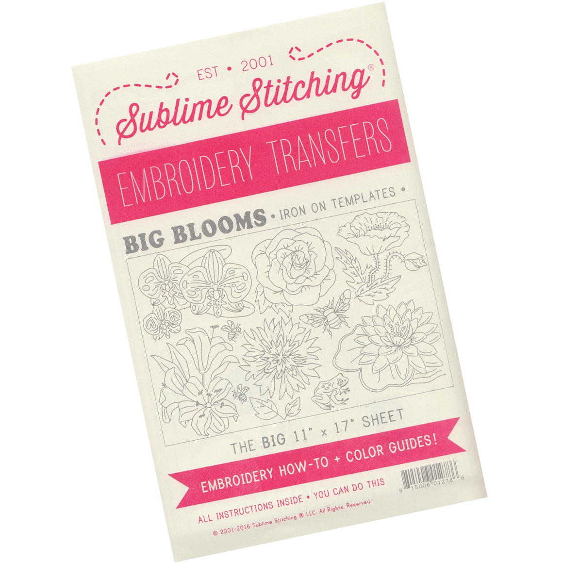 Sublime Stitching Embroidery Patterns - Big Blooms Patterns - Snuggly Monkey