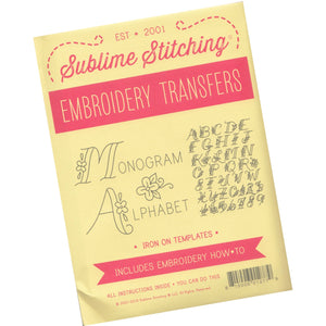 Sublime Stitching Embroidery Patterns - Monogram Alphabet