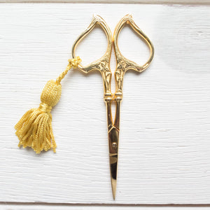 Art Nouveau Gold Embroidery Scissors Scissors - Snuggly Monkey
