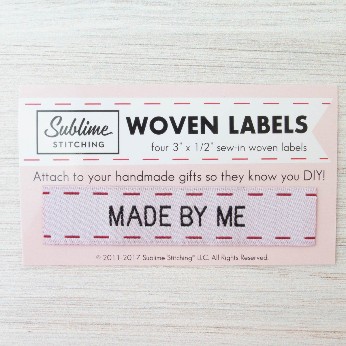 Woven Labels - Made By Me Labels - Snuggly Monkey
