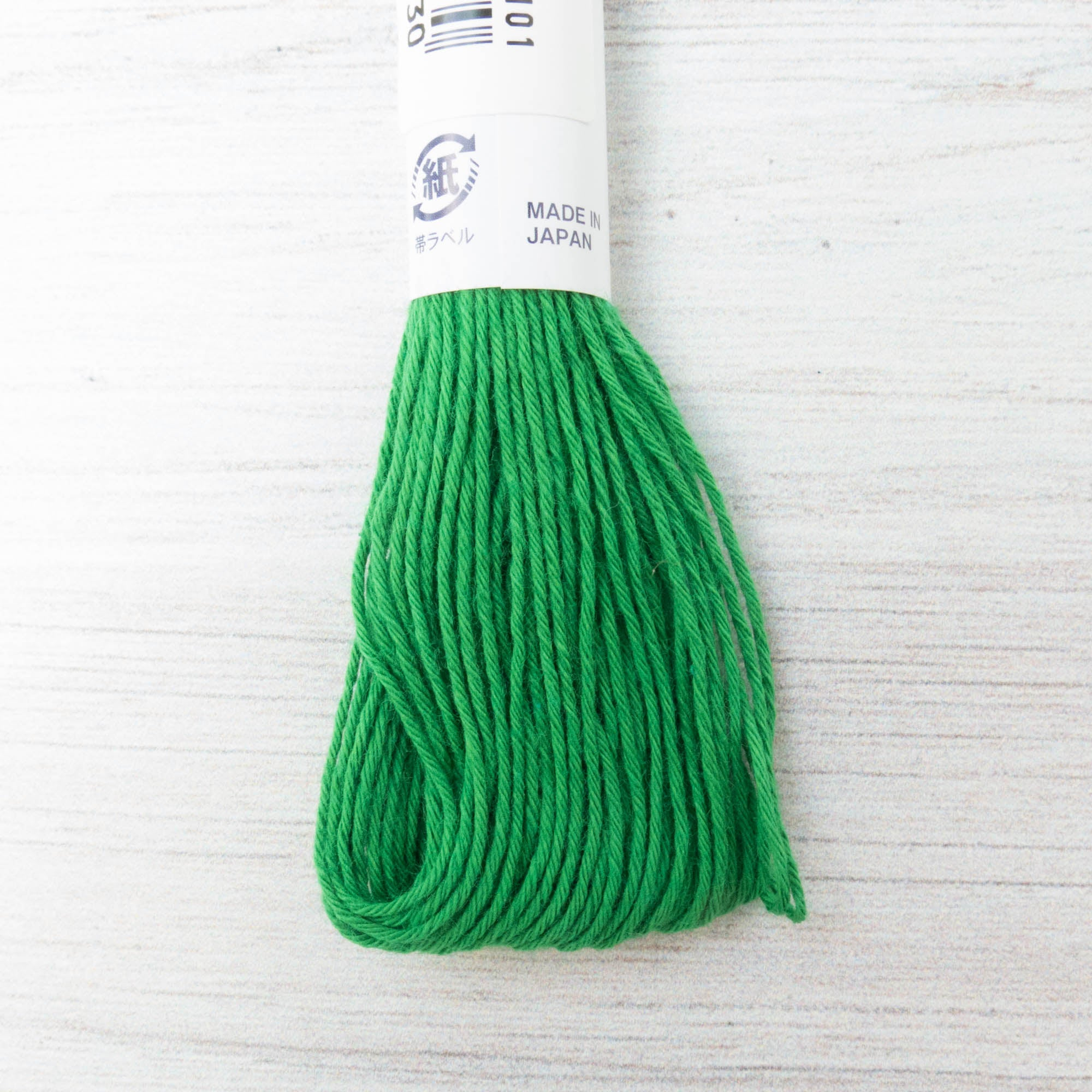 Japanese Sashiko Thread - Viridian Green (#26) Sashiko - Snuggly Monkey