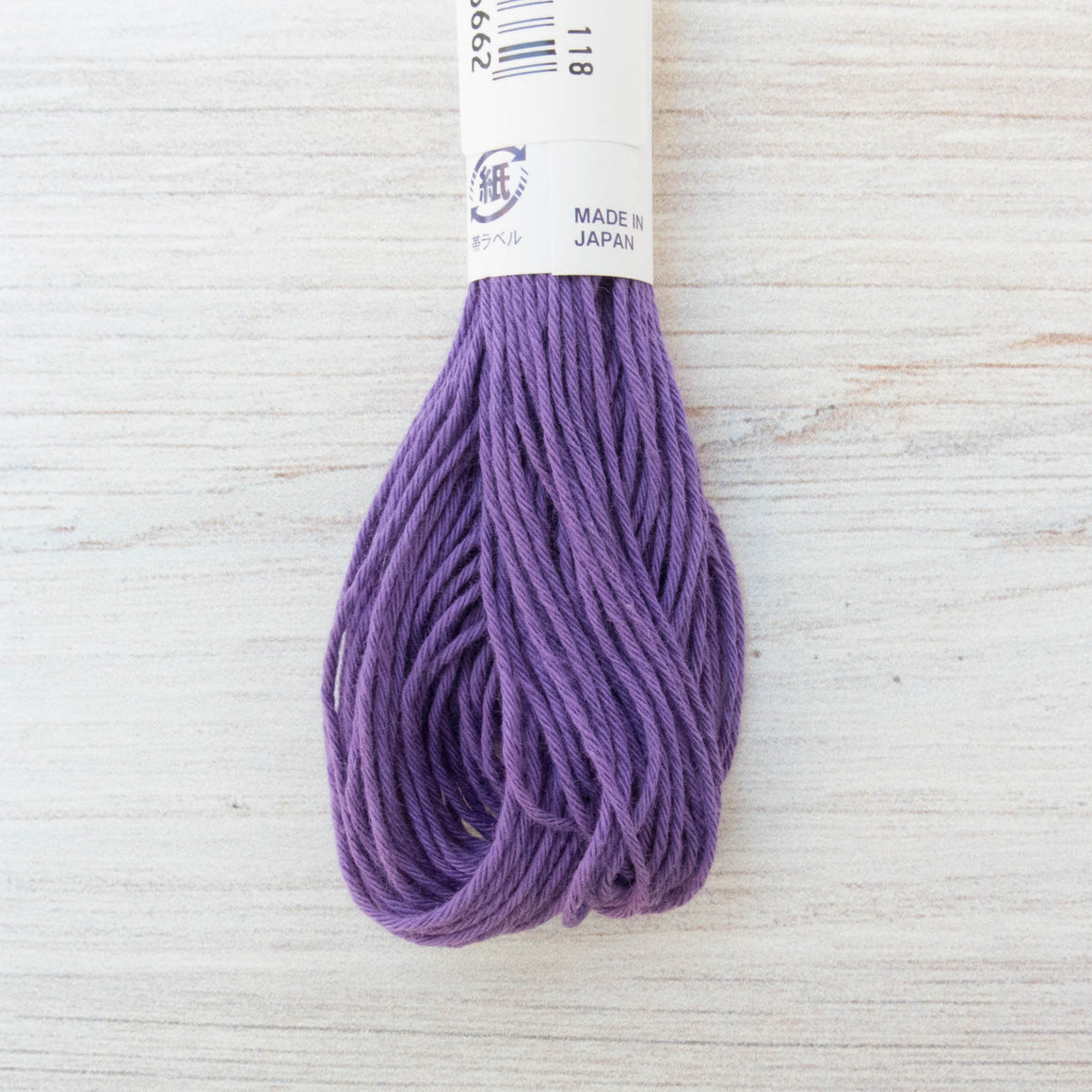 Japanese Sashiko Thread - Purple (#19) Sashiko - Snuggly Monkey