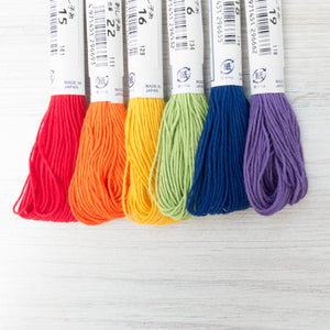 Sashiko Thread Set - Rainbow Sashiko - Snuggly Monkey