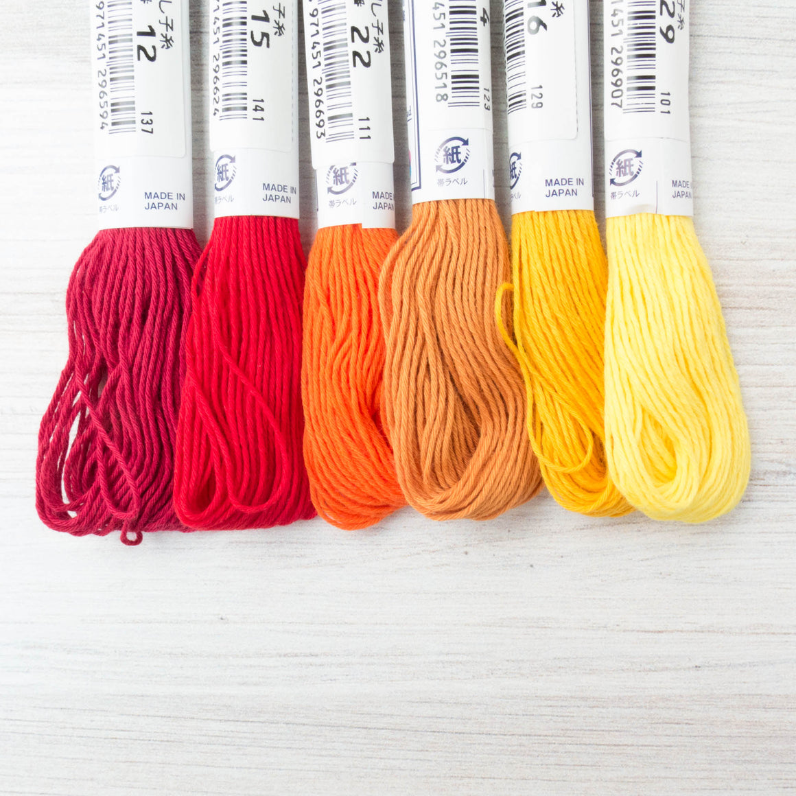 Sashiko Thread Set - Sunrise Collection Sashiko - Snuggly Monkey