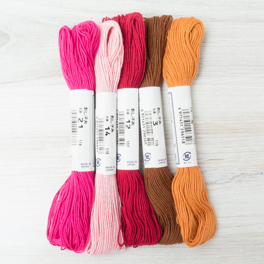 Japanese Sashiko Thread Set - Warm Fall Collection