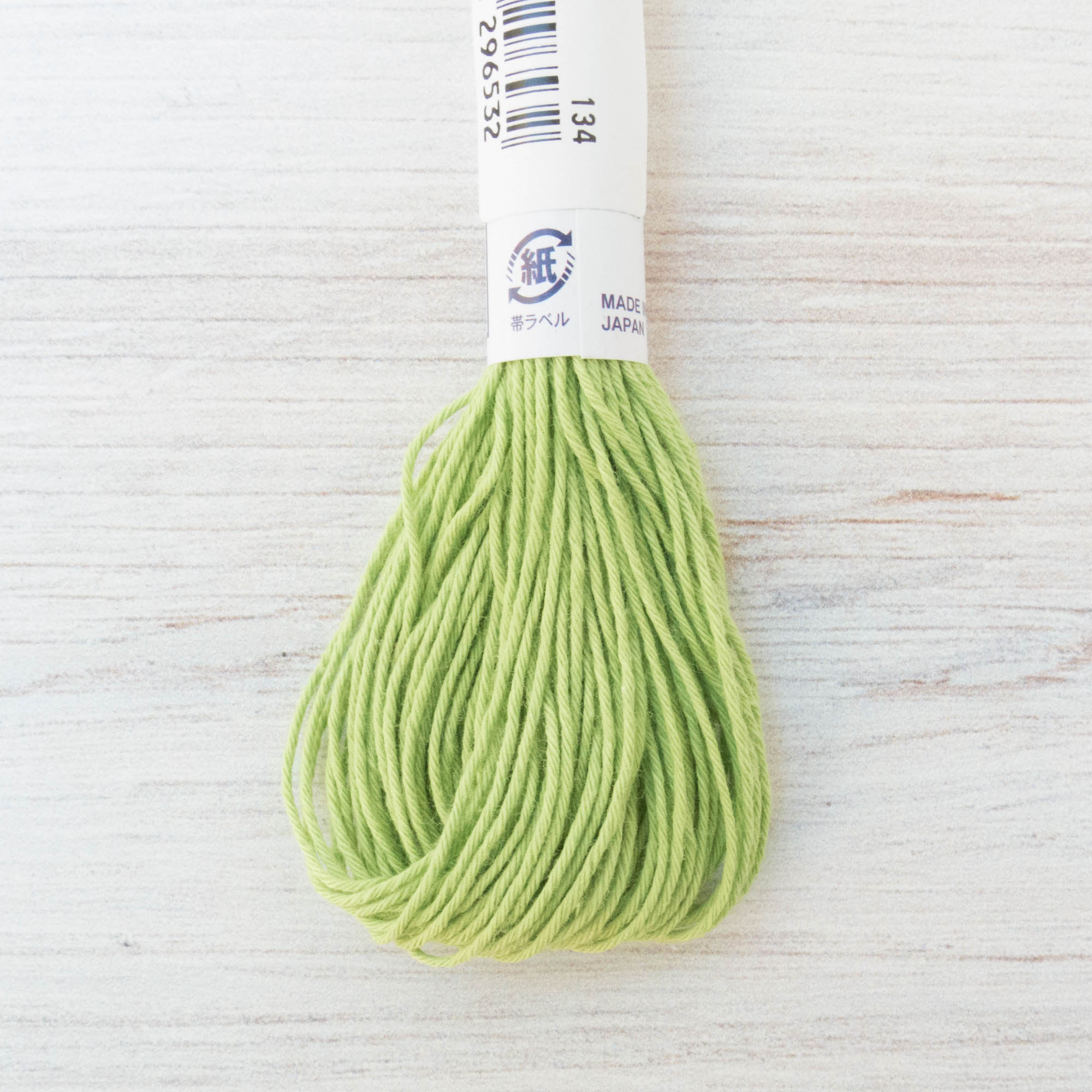 Olympus Japanese Sashiko Thread - Spring Green (#6) Sashiko - Snuggly Monkey