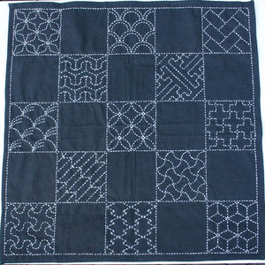 Sashiko Embroidery Kit - Multi-Pattern Sampler Sashiko - Snuggly Monkey
