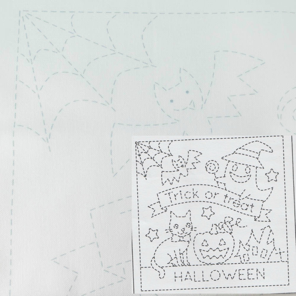 Sashiko Embroidery Samper -Halloween (1023) Sashiko - Snuggly Monkey