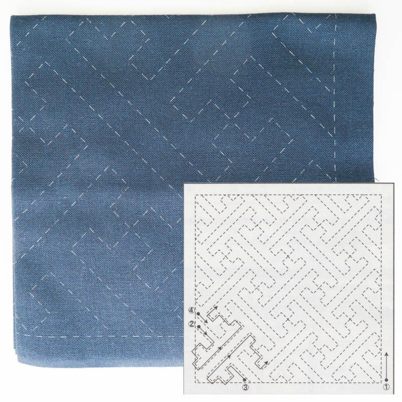 Sashiko Embroidery Kit -Sayagata (No 204)