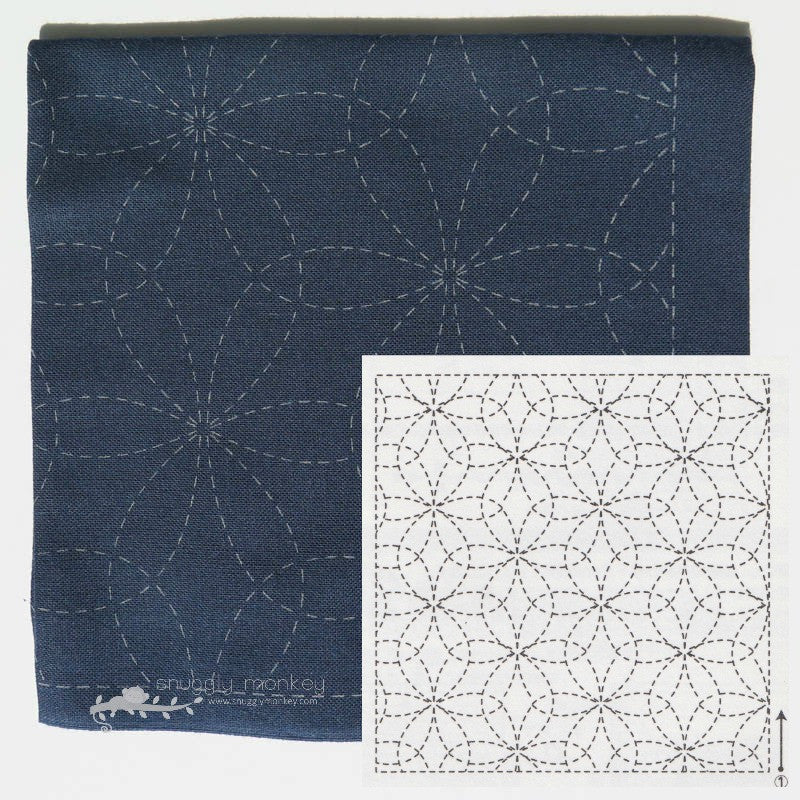 Sashiko Embroidery Kit -Hanazashi Na (No 212)