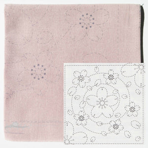 Sashiko Embroidery Kit - Pink Sakura (No 37)