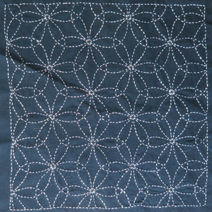 Sashiko Embroidery Kit -Hanazashi Na (No 212) Sashiko - Snuggly Monkey