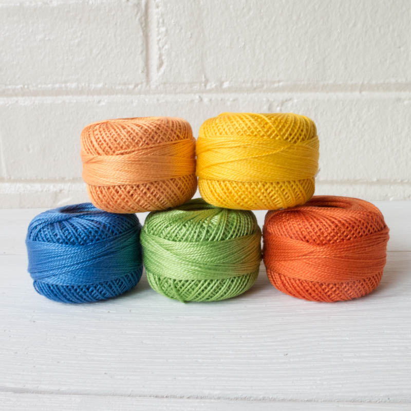 Perle Cotton Thread Set - School Days Perle Cotton - Snuggly Monkey