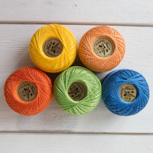 Perle Cotton Thread Set - School Days