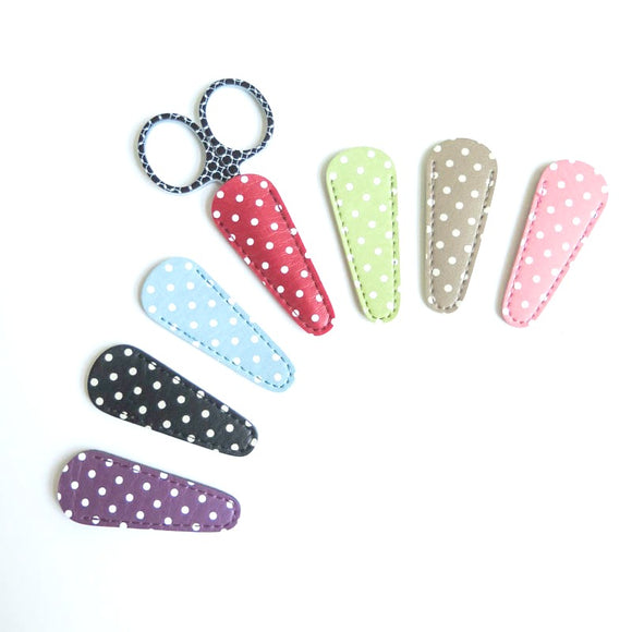 Polka Dot Embroidery Scissor Case