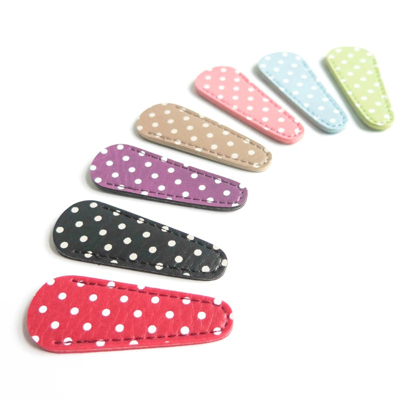 Polka Dot Embroidery Scissor Case Scissors - Snuggly Monkey
