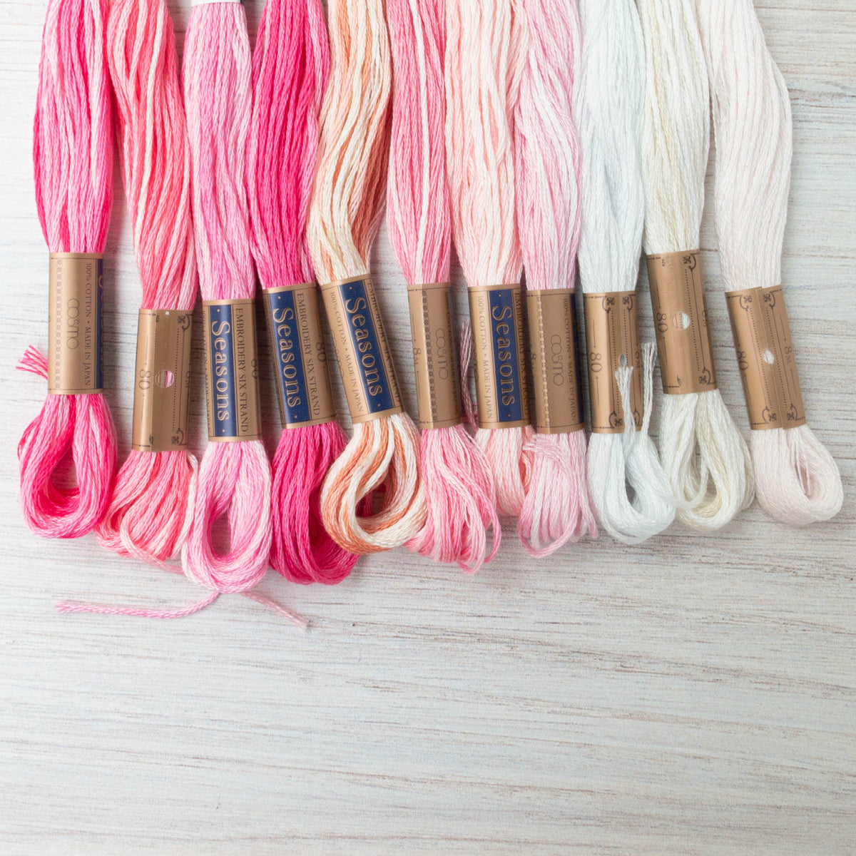 Cosmo Seasons Variegated Embroidery Floss (8001 - 8011)