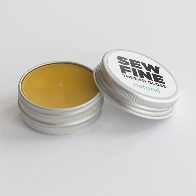 Sew Fine Thread Gloss - Natural Unscented Beeswax