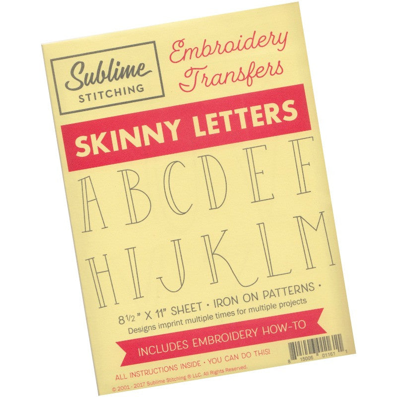 Skinny Letters Alphabet Embroidery Design | Sublime Stitching Patterns - Snuggly Monkey