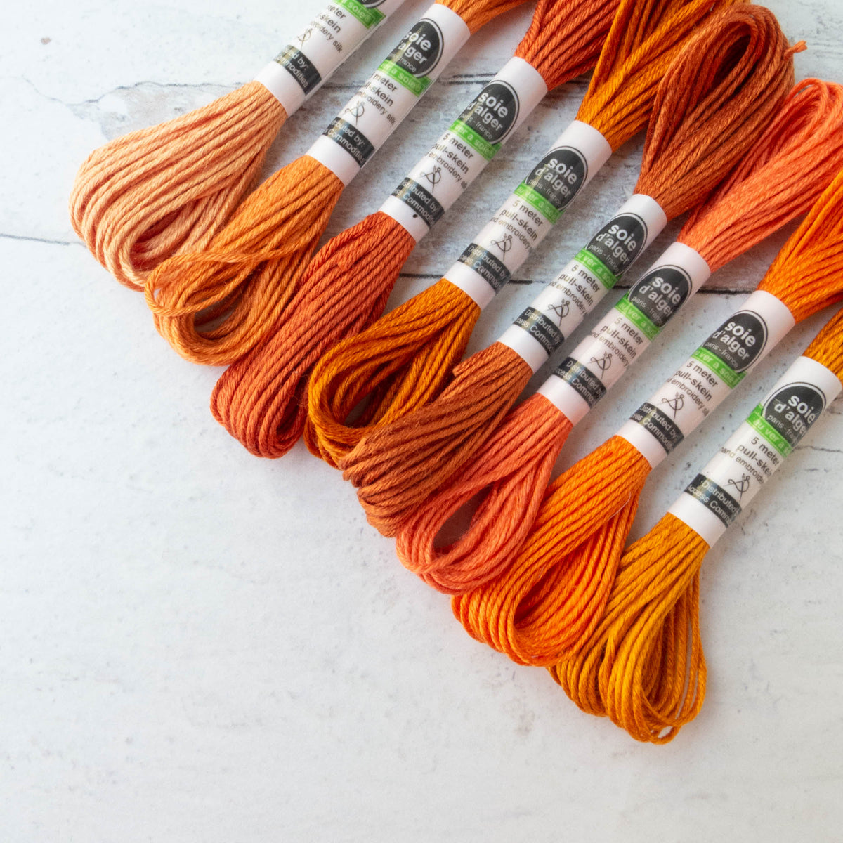 Au Ver A Soie Soie d'Alger Silk Embroidery Thread - Orange