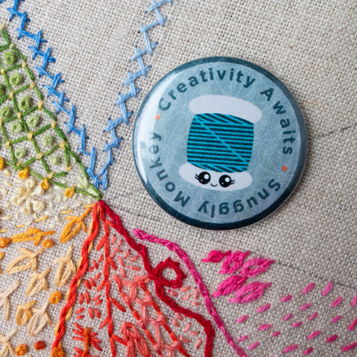 Snuggly Monkey Needle Minder