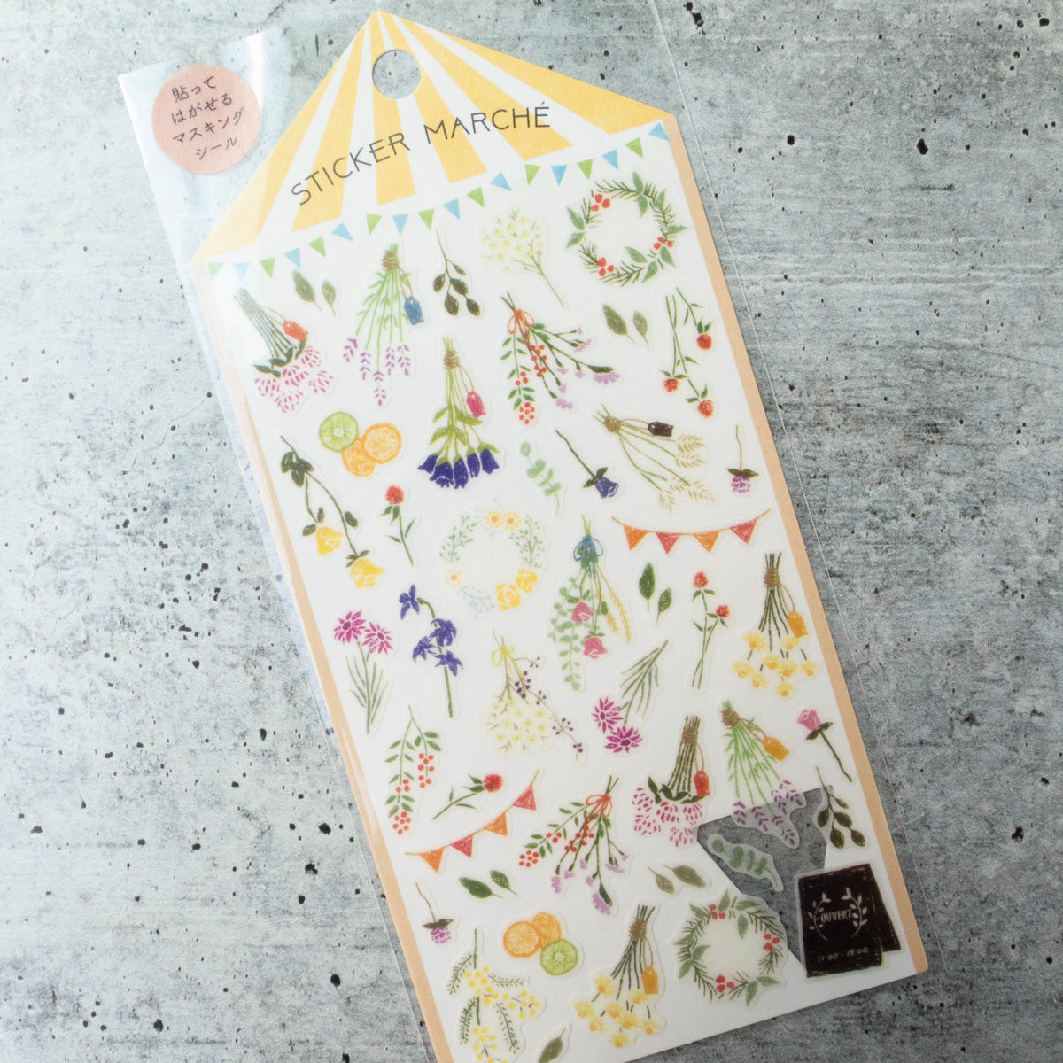 Midori Sticker Marche Stickers - Dried Flowers