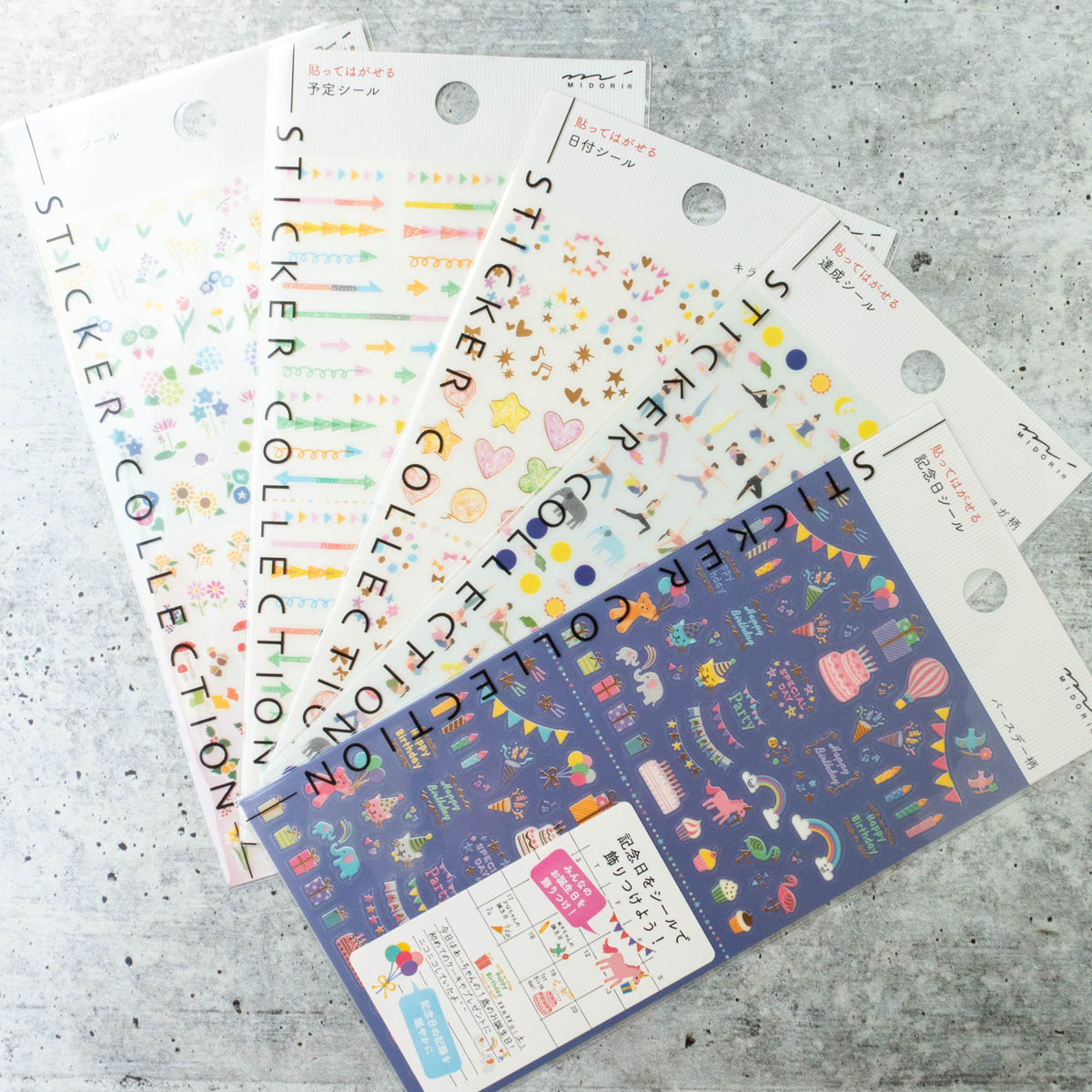 Midori Planner Stickers Collection