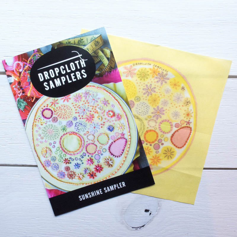 Dropcloth Embroidery Samplers :: Sunshine Sampler Patterns - Snuggly Monkey