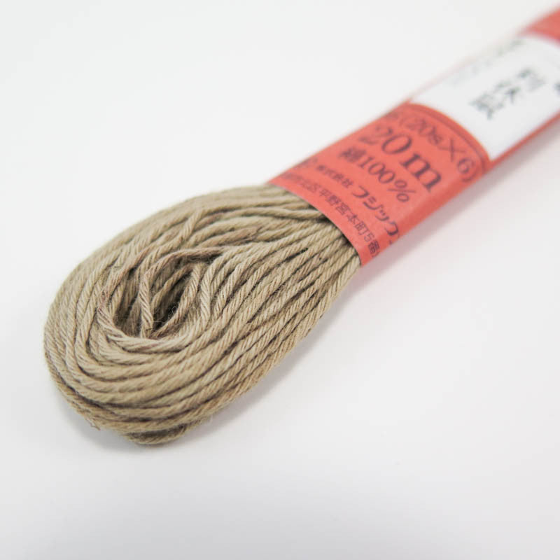 Hand Dyed Thread | Fujix Persimmon Tannin Dyed Floss in Celadon Gray