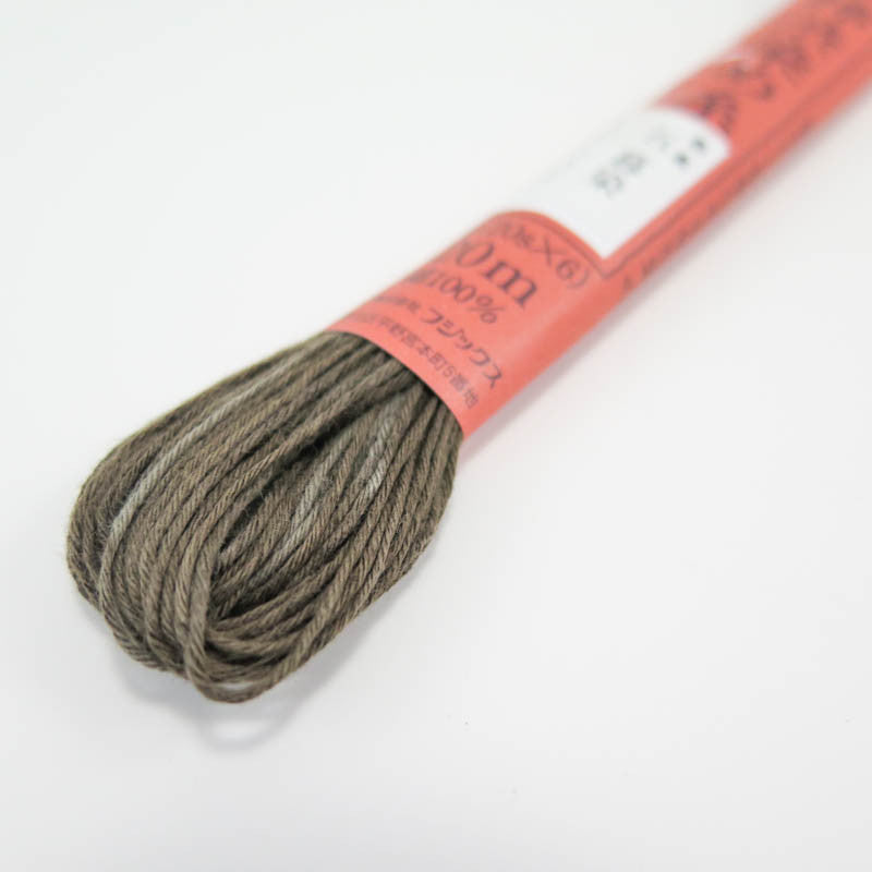 Hand Dyed Thread | Fujix Persimmon Tannin Dyed Floss in Dusk