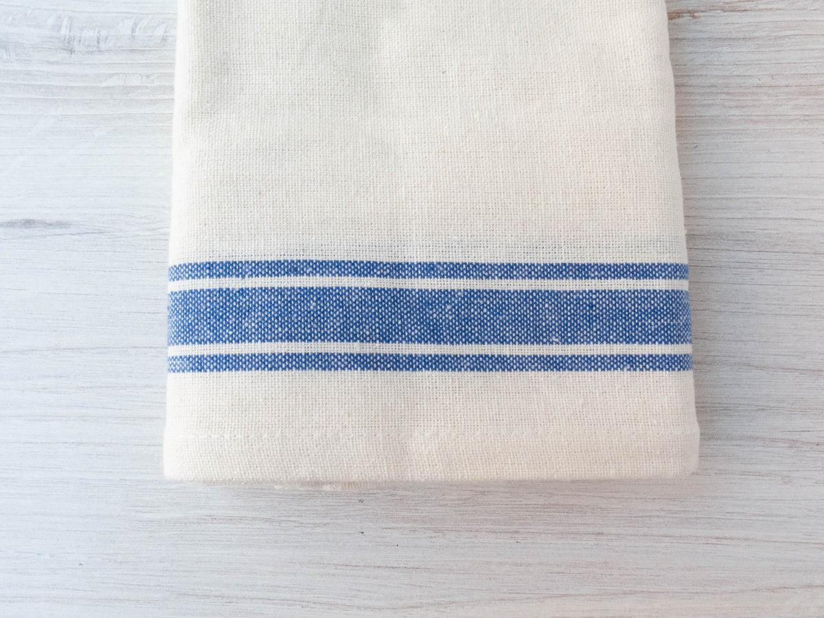 Vintage Inspired Kitchen Towels -Blue Stripes