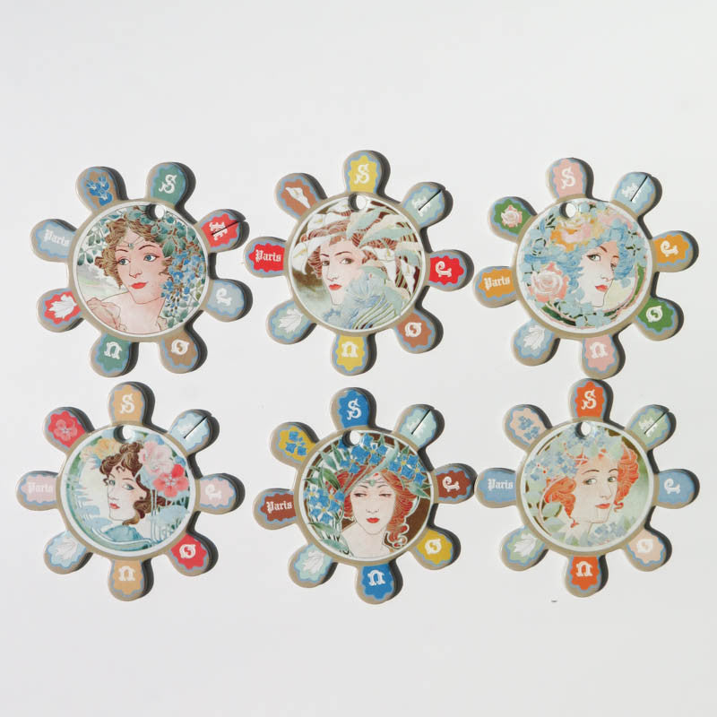 Maison Sajou Floss Bobbins - Art Nouveau Ladies