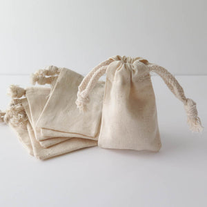 Extra Small Blank Muslin Pouches Bags - Snuggly Monkey