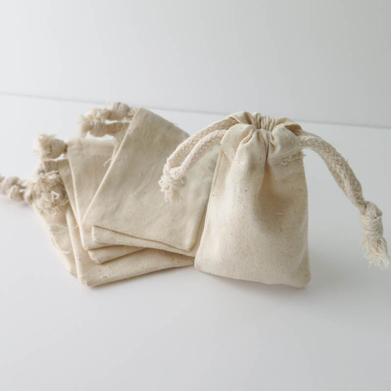 Extra Small Blank Muslin Pouches