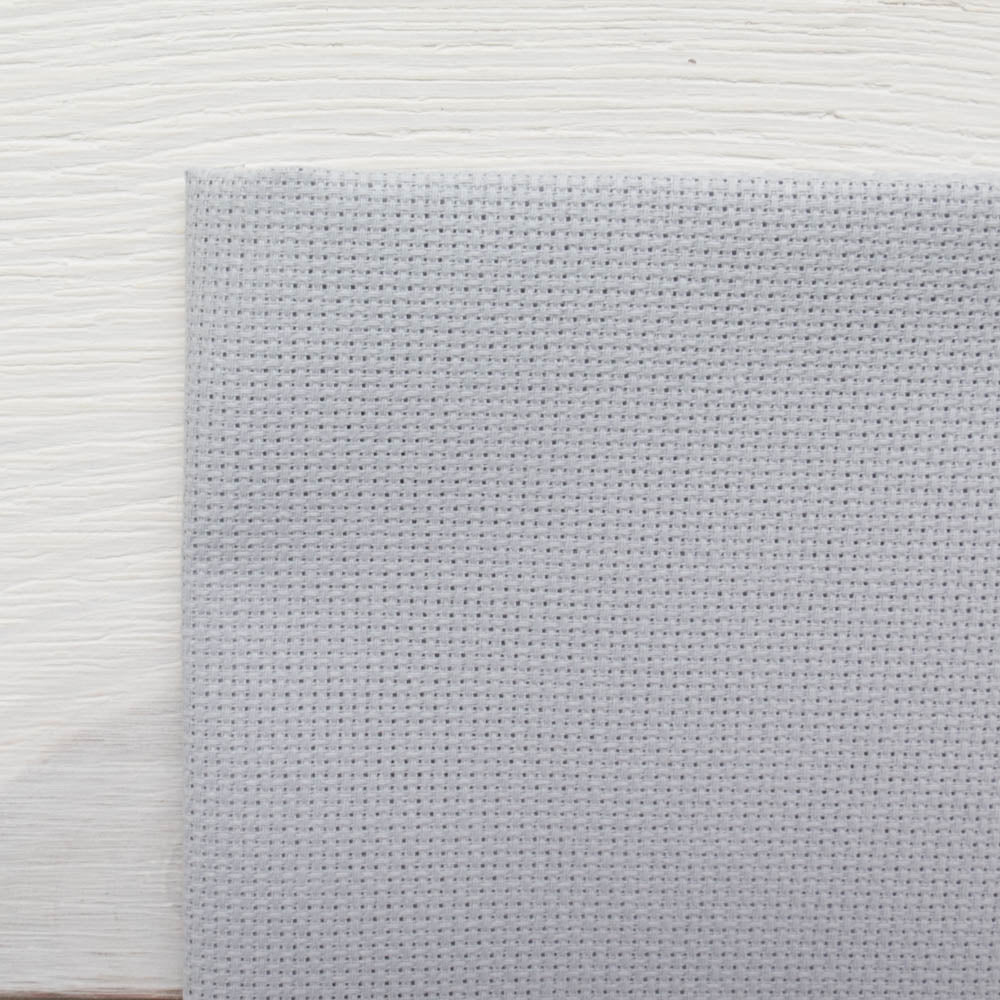 Touch of Gray Aida Cross Stitch Fabric Fabric - Snuggly Monkey