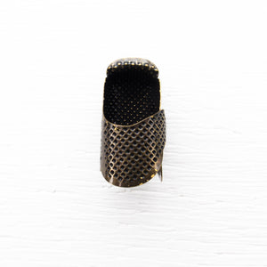 Little House Tortoise Shell Metal Thimble