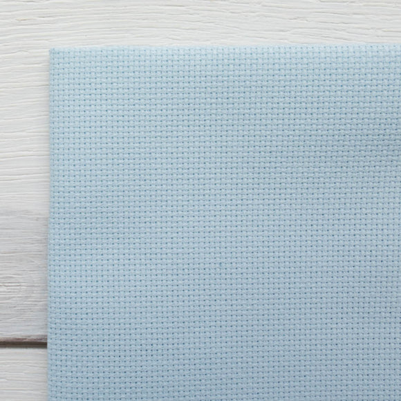 Touch of Blue Aida Cross Stitch Fabric